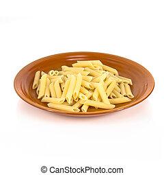 Macaroni isolated over white background