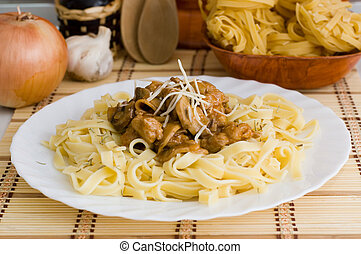 Macaroni with meat
