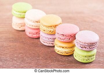 Macarons close up