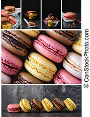 macarons, collage