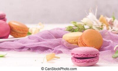 macarons, doux, francais