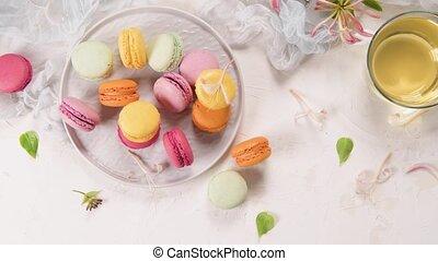 macarons, francais, doux