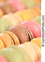 Macarons macaroons colorful cookies portrait format dessert ...