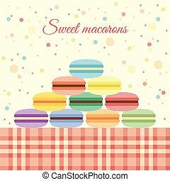 Macarons on the table