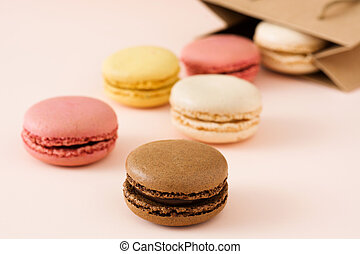 Macarons out of a bag