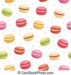 Macarons seamless pattern