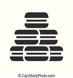 macarons solid design icon, christmas sweets set