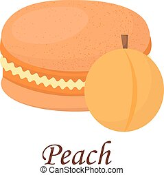 Macaroon cake vector illustration - Sweet and colourful...