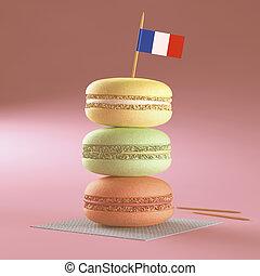 Macaroon French Flag