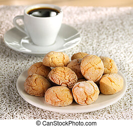 Macaroons and espresso