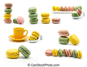 Macaroons collage