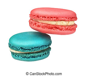 macaroons on a white background