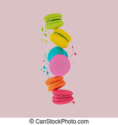 Macaroons. Sweet and colorful macaroons.