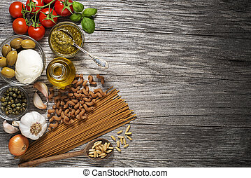 macarronada, com, ingredientes