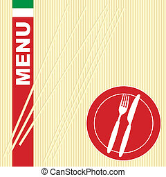 macarronada, menu, -, cartão