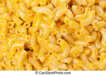 macarrones y queso, en, un, tazón