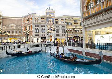 macau, 22, посетитель, china-august, полоса, ven, гондола, лодка, cotai