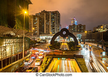 Macau cityscape night - Macau cityscape skyline at night....