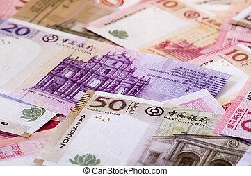 Macau dollar (patacas) - The heap of Macau Patacas (notes) ...