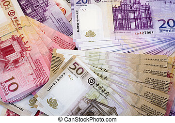 The Macau money (bills and notes)
