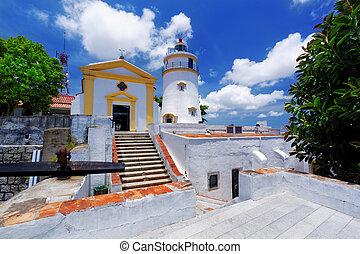 macau famous landmark, lighthouse