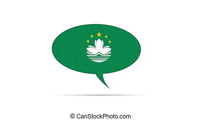 Macau Flag Speech Bubble