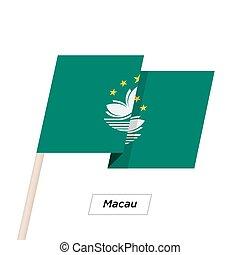 Macau Ribbon Waving Flag Isolated on White. Vector ...