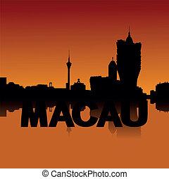 Macau skyline at sunset