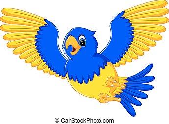 macaw, dessin animé