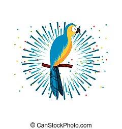 macaw, oiseau, icône