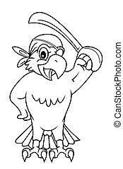 macaw, oiseau
