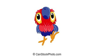 Macaw parrot icon animation
