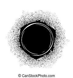 macchia, inchiostro nero