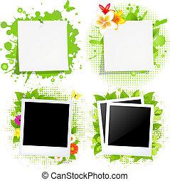 macchia, vuoto, nota, foto, verde, carte