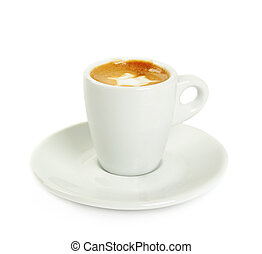 macchiato isolated - Cup of macchiato with cream isolated on...