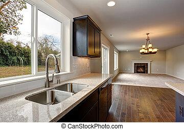 macchiato, moderno, cabinets., cucina