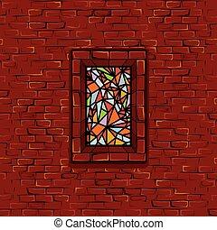 macchiato, seamless, stonewall, finestra vetro, vettore