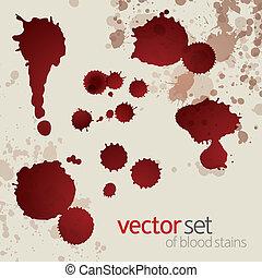 macchie, set, splattered, sangue, 6