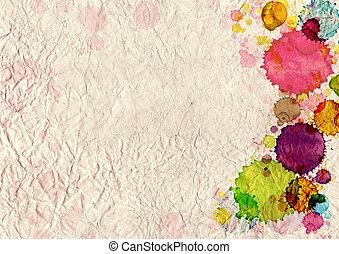 macchie, vernice, carta, vecchio, struttura