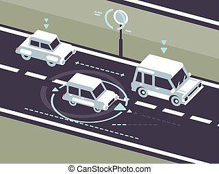 macchina, automobile, autopilot