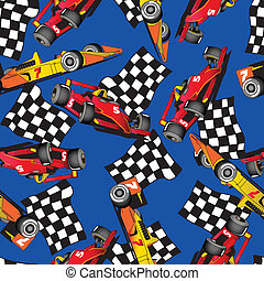 macchina correndo, pattern., seamless