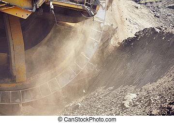 macchina, enorme, minerario