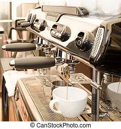 macchina, espresso