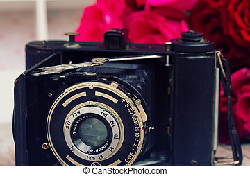 macchina fotografica antica, foto