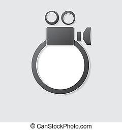 macchina fotografica, cinepresa, icona