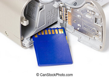 macchina fotografica digitale, card., memoria