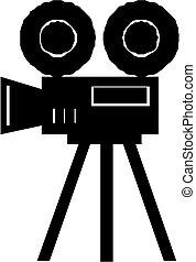 macchina fotografica film, icona