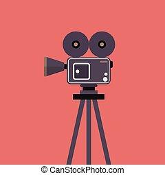 macchina fotografica film, treppiede