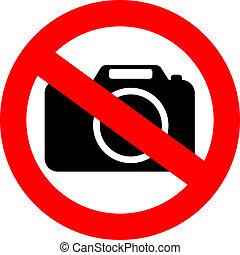 macchina fotografica foto, no, segno