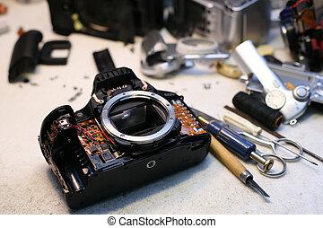 macchina fotografica foto, riparazione